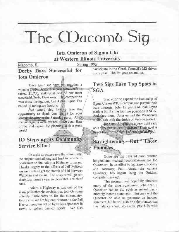 Newsletter Iota Omicron 1995 04 Page 1