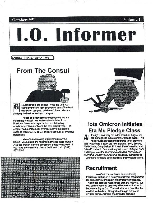 Newsletter Iota Omicron 1995 10 Page 1