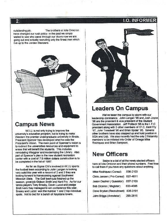 Newsletter Iota Omicron 1995 10 Page 2