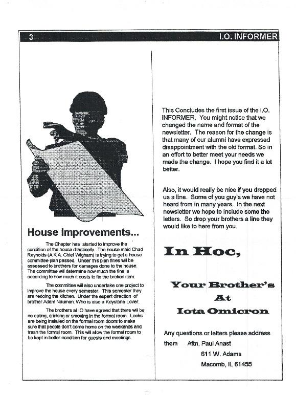 Newsletter Iota Omicron 1995 10 Page 3